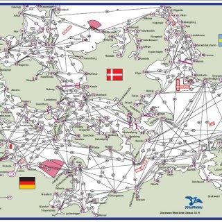 Westliche Ostsee mit Distanzen
