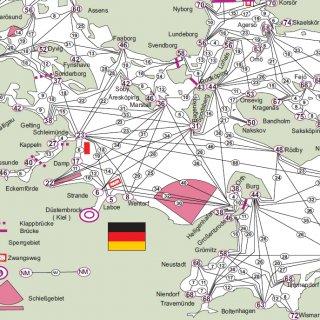 Ausschnitt westliche Ostsee mit Distanzen