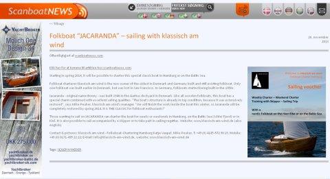 """Scanboat über """"Jacaranda"""" - das neue Folkeboot von klassisch am wind, November 2013"""